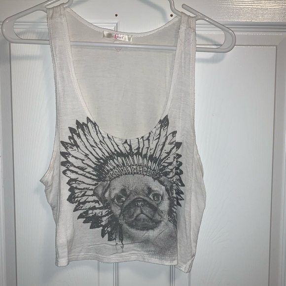 Graphic crop top